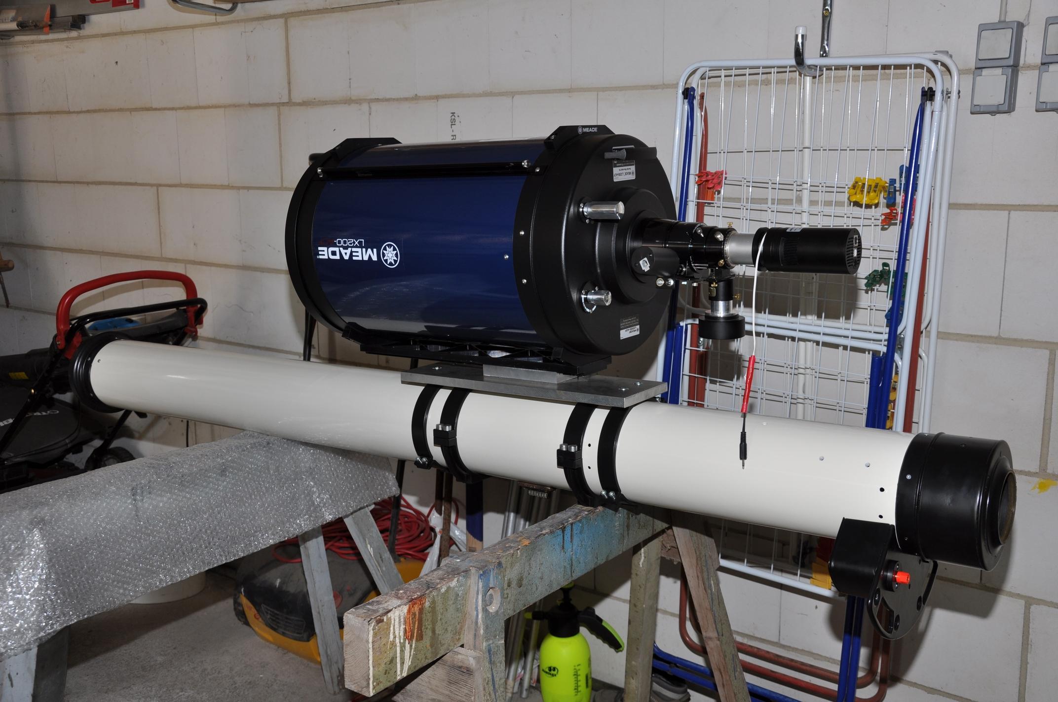 Meade ACF 12 Zoll Spiegelteleskop Testaufbau