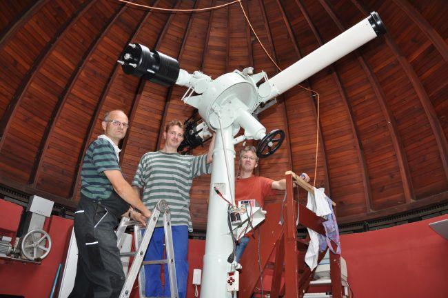 Fertigstellung der Restaurationsarbeiten am Zeiss Teleskop