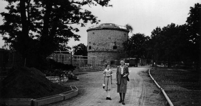 Baubeginn der Sternwarte 1950
